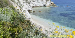 Picture of: White pebbles and crystal waters..