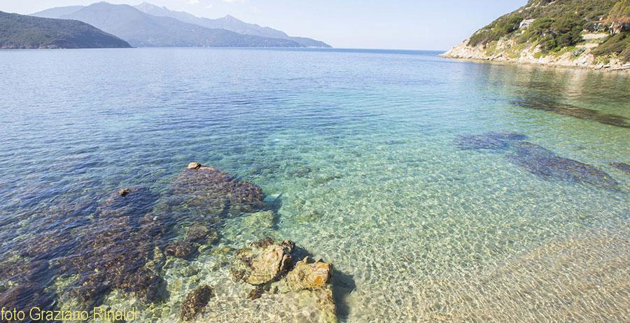 Forno beach on Elba island