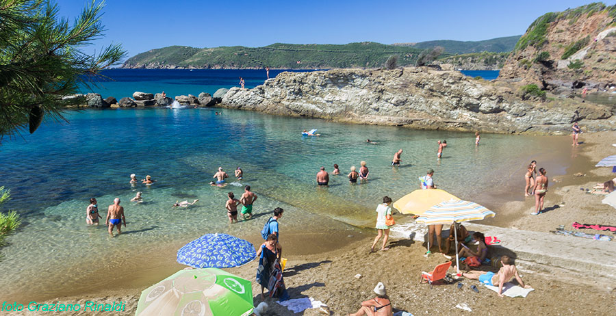 The exotic beach of Felciaio on Elba island