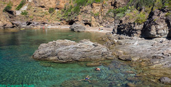 The exotic beach of Felciaio on Elba island