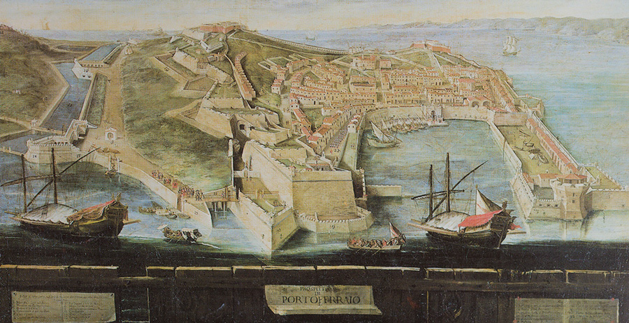 Portoferraio Elba Island - historical map of 1600