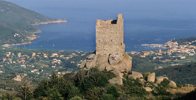 Elba Island, Volterraio, Mediterranean sea, Italy