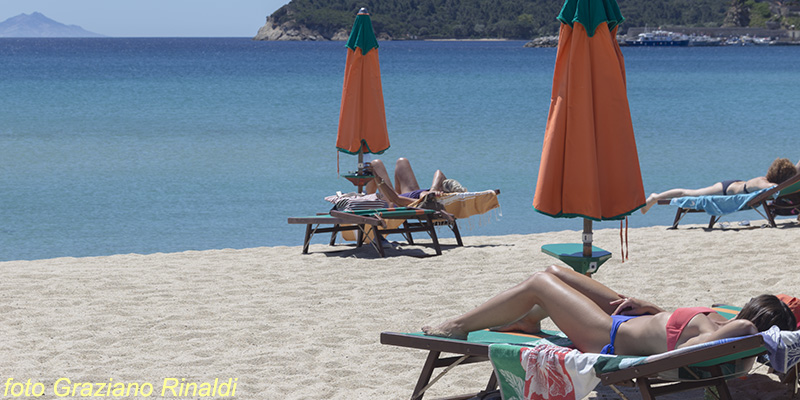 Marina di Campo, sandy beach, Elba Island, Italy, Mediterranean sea, Holidays, Summer, beach, family holiday