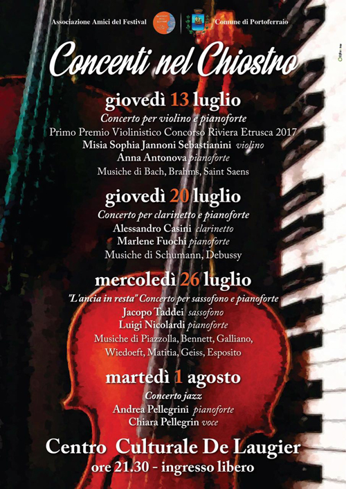 CONCERTS IN THE CLOISTER insel elba