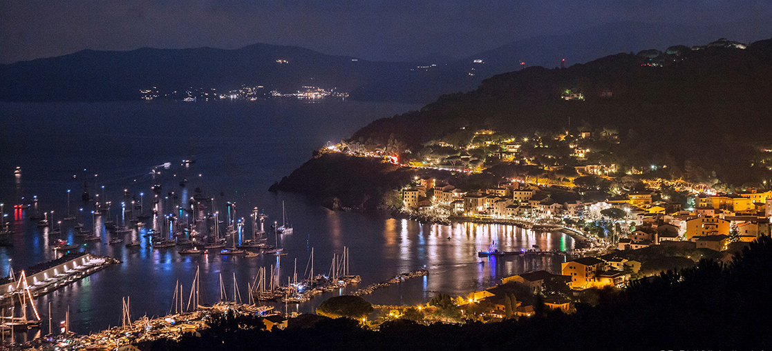 Elba Island, night, lights