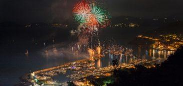 Elba, pyrotechnic show, celebration