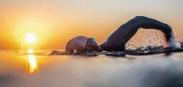 Elba, swimmer, sea, holiday, autumn, triathlon