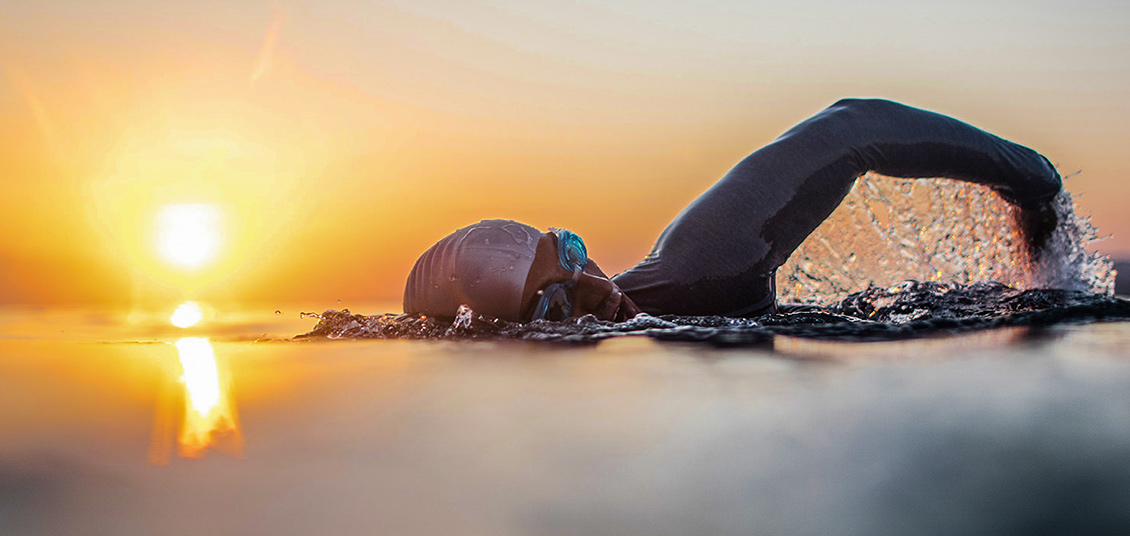 Elba, swimmer, sea, holiday, autumn, triathlon